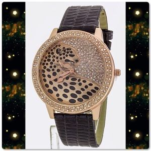 🆕 Jaguar Crystal Fashion Wrist Watches (2 Colors)